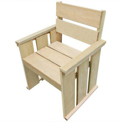 Outdoor Chair Impregnated Pinewood