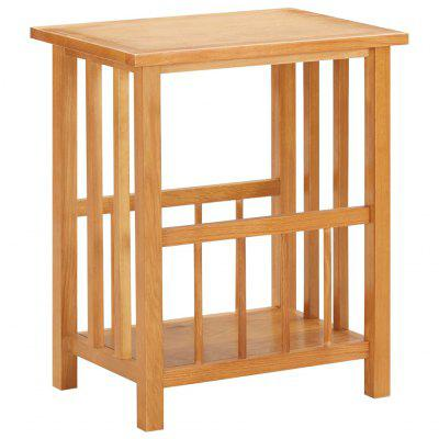 Magazine Table 45x35x55 cm Solid Oak Wood and MDF