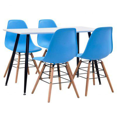 Modern 5 Piece Dining Set  Plastic