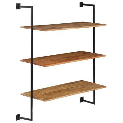 Wall Shelf 94x35x113 cm Solid Acacia Wood