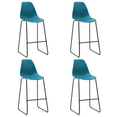 Bar Chairs 4 or 6 pcs Grey Plastic