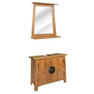 Bathroom Furniture Set Recycled Solid  Pinewood