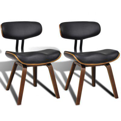 Artificial Leather Dining Chair with Backrest 2 pcs