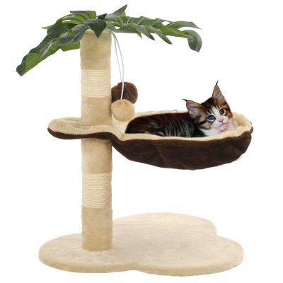 Cat Tree with Sisal Scratching Post 50 cm Multicolor