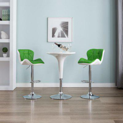 Bar Stool Black Faux Leather Mulicolor