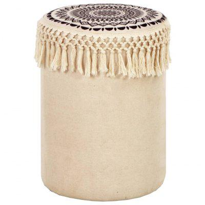 Decorative Retro Style Stool  Fabric