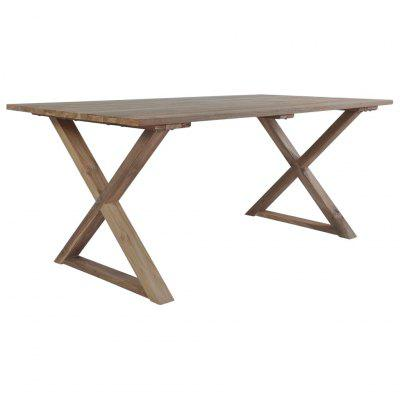 Garden Table 180x90x76 cm Solid Reclaimed Teak Wood