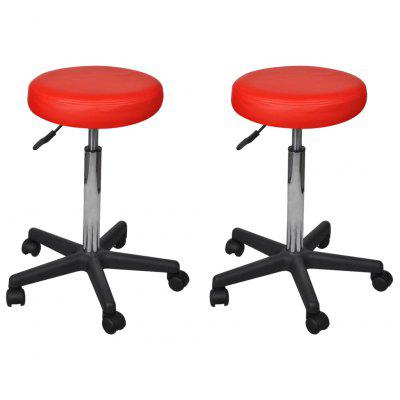 Office Stools 2 pcs Red 35.5x98 cm Faux Leather