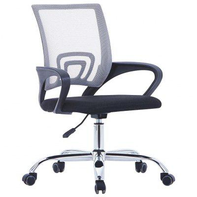 Office Chair with Mesh Backrest Black Fabric