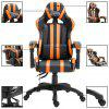 Gaming Chair Racing Office Computer Game Chair Ergonomic Backrest and Seat Height Adjustment Recliner Swivel Rocker PU