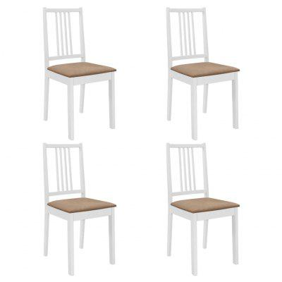 Dining Chairs with Cushions 4 pcs Solid Wood