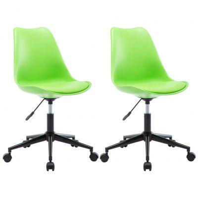 Swivel Dining Chairs 2 pcs  Faux Leather