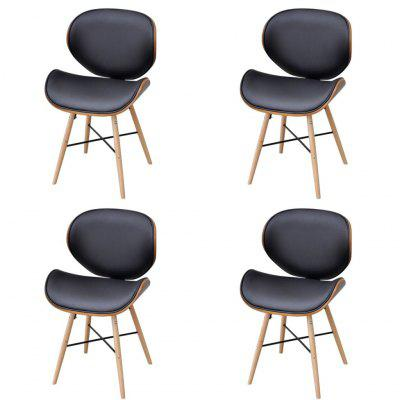 2 pcs Armless Dining Chair with Bentwood Frame