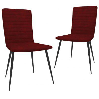 Dining Chairs 2 pcs Wine Red Velvet stainless steel sealed red wine stopper