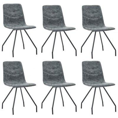 Dining Chairs Set 6 pcs  Faux Leather