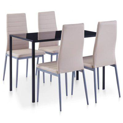 Five Piece Dining Set Cappuccino