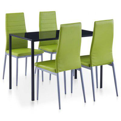 Five Piece Dining Set Green