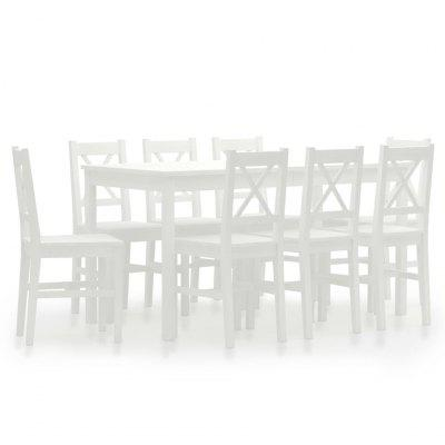 9 Piece Dining Set Pinewood