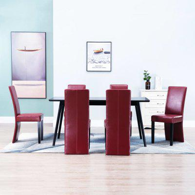 Dining Chairs 6 pcs Wine Red Faux Leather