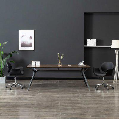 Swivel Dining Chairs 2 pcs Black Faux Leather