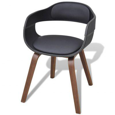 Bentwood Dining Chair with Artificial Leather Upholstery