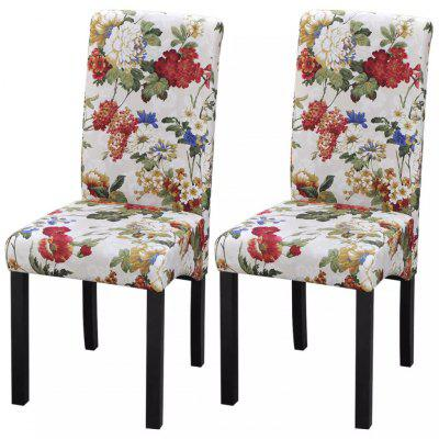 Dining Chairs 2 pcs Floral Design Wood