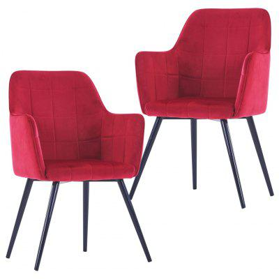 Dining Chairs 2 pcs Dark Red Velvet