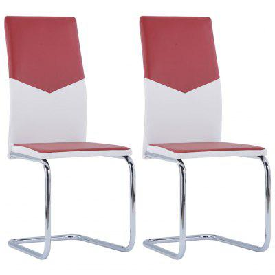 Cantilever Dining Chairs 2 pcs Wine Red Faux Leather stainless steel sealed red wine stopper