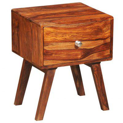 Nightstand with 1 Drawer 55 cm Solid Sheesham Wood