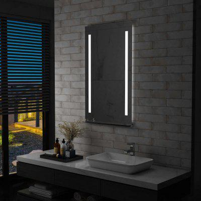 Bathroom LED Wall Mirror with Shelf 60x100 cm