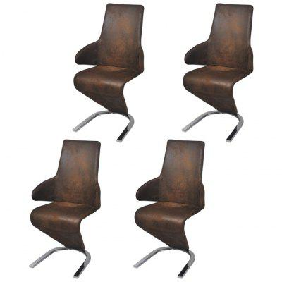 Cantilever Dining Chairs 2 pcs Artificial Leather Black