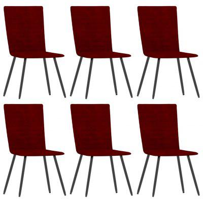 Dining Chairs 6 pcs Wine Red Velvet