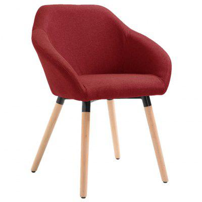 Dining Chair Wine Red Fabric