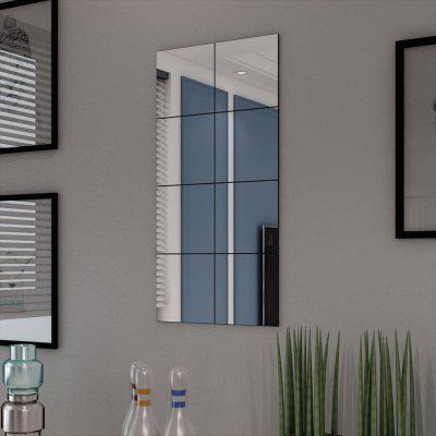 Frameless Mirror Tiles Glass 8 pcs 20.5 cm
