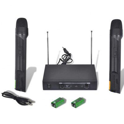 Receiver with 2 Wireless Microphones VHF