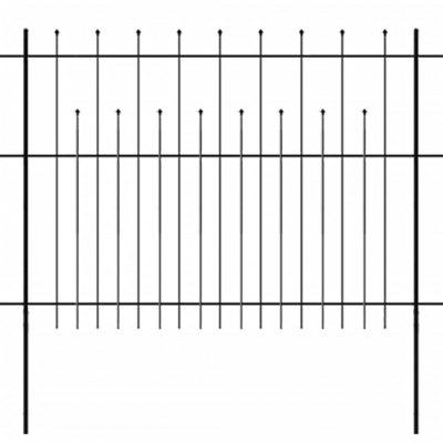 Security Palisade Fence with Pointed Top Steel 600x150 cm