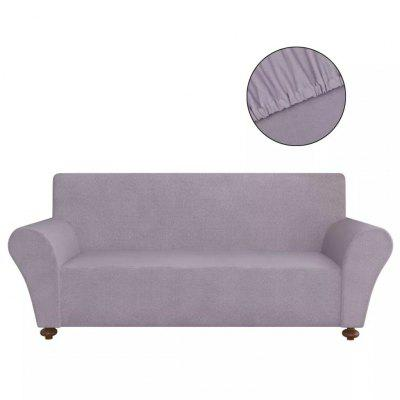 Stretch Couch Slipcover Grey Polyester Jersey stretch couch slipcover brown polyester rib knit fabric