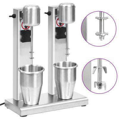 Milkshake Mixer with Double Cups Stainless Steel 2 L
