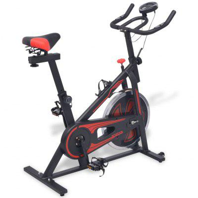 Exercise  Bike with Pulse Sensors Black and Red