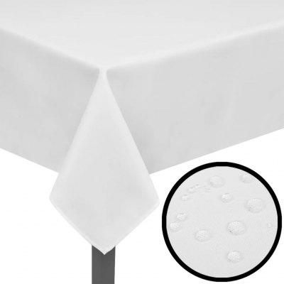 5 Tablecloths White 190 x 130 cm