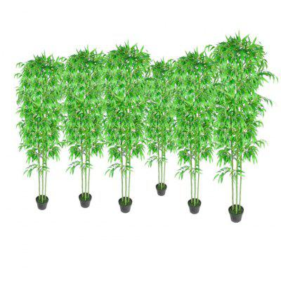 Bamboo Artificial Plants Home Decor Set of 6