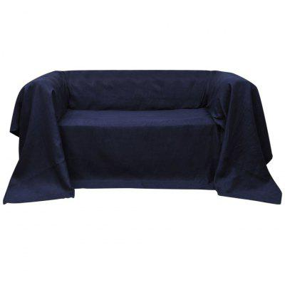 Microsuede Couch Slipcover Navy Blue 210 x 280 cm