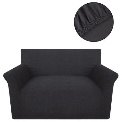 Stretch Couch Slipcover Black Cotton Jersey