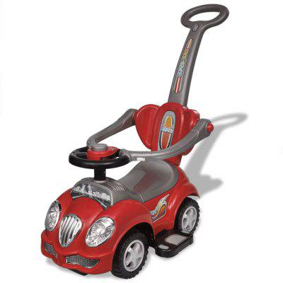 Red Straddle Childs Car with Push Handle