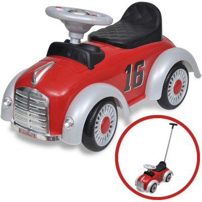 Retro Straddle Childs Car with Push Bar