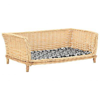 Basket for Dogs with Cushion  Natural Willow