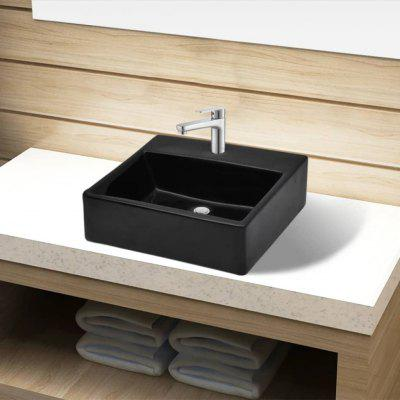 Washbasin with Tap Hole 38x30x11.5 cm Ceramic Tiles