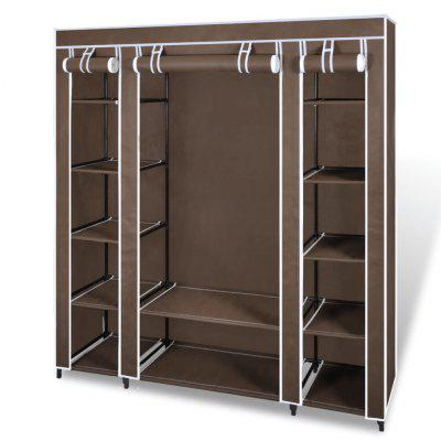 Wardrobe with Compartments and Rods 45 x 150 176 cm