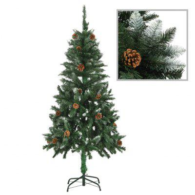 Artificial Christmas Tree with Pine Cones and White Glitter 150 cm
