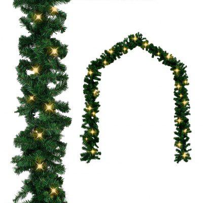 Christmas Garland with LED Lights 10 m